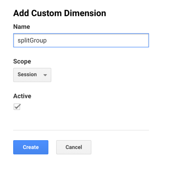 GA - Custom Dimension - SplitGroup