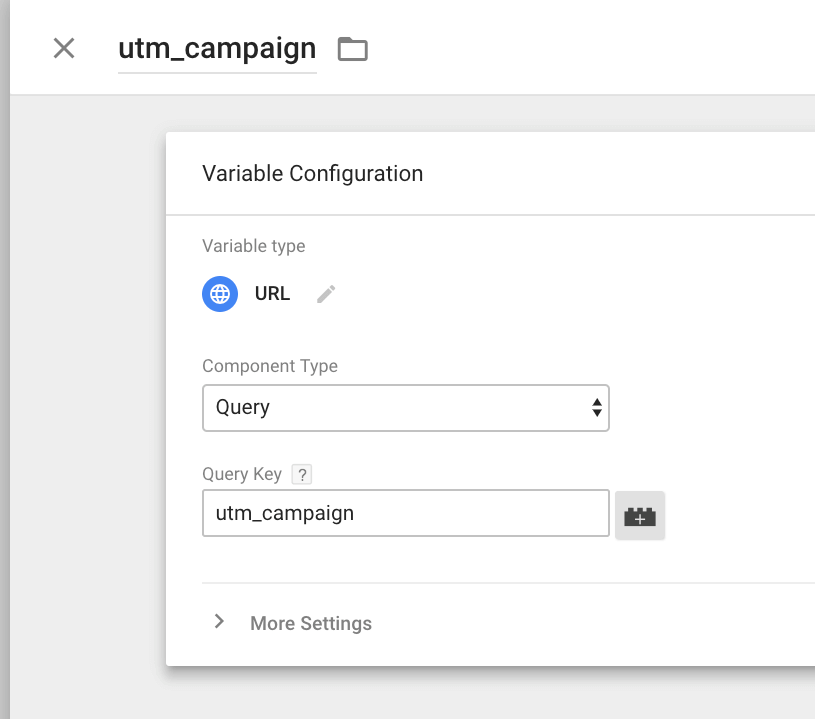 Variable for UTM Campaign in GTM